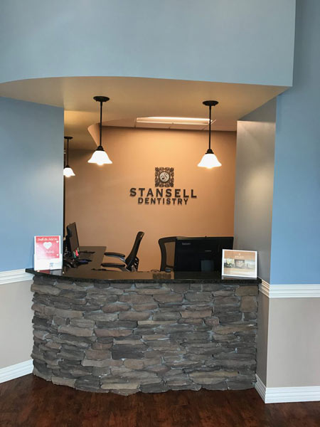 Front desk at Stansell Dentistry Associates in Raleigh, NC